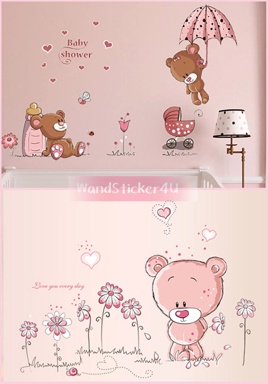 wandtattoo kinderzimmer b rchen teddy b r wandsticker. Black Bedroom Furniture Sets. Home Design Ideas